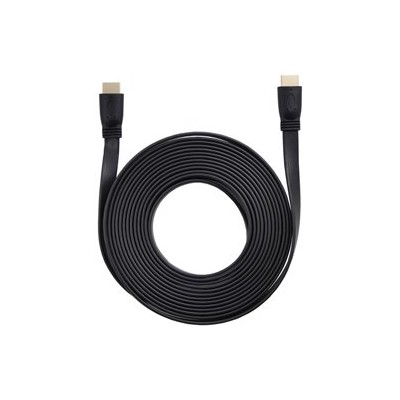 HDMIケーブル フラット 5m HDMIver1.4 金メッキ端子 High Speed HDMI Cable ブラック AS-CAVS003
