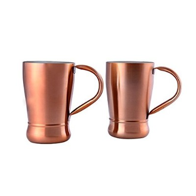 Zap Impex Stainless Steel Copper Coated Coffee Cup, Cold Coffee, Beer Mug, Cappuccino Cups Coffee...