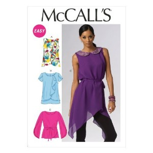 McCall Pattern Company M6846 Misses' Top, Tunics and Belt Sewing Template, Size A5 by McCall...