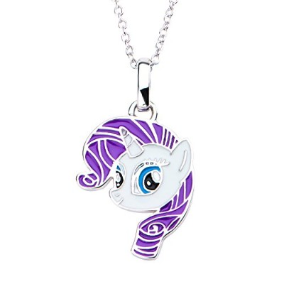 Hasbro Jewelry, My Little Pony Rarity Women 925 Sterling Silver With 16+2 Inch Extender Chain...