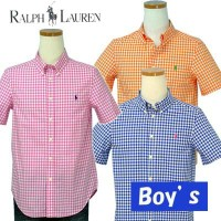 POLO by Ralph Lauren Boy'sギンガムチェック半袖シャツ【2014-Spring/NewColor】【ラルフローレン ボーイズ】