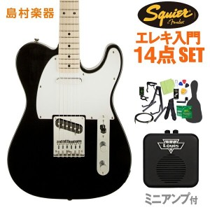 Squier by Fender Affinity Telecaster BLK エレキギター 初心者14点セット 【ミニアンプ付き】 テレキャスター 【スクワイヤー / スクワイア】...