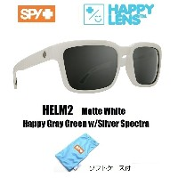 2018新作 ■ SPY OPTICS スパイ 【 HELM2 ヘルム2 】 HAPPY LENS 【 Matte White - Happy Gray Green w/Silver Spectra...