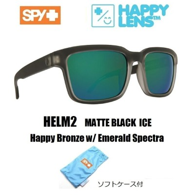 2018新作 ■ SPY OPTICS スパイ 【 HELM2 ヘルム2 】 HAPPY LENS 【 Matte Black Ice - Happy Bronze w/ Emerald...