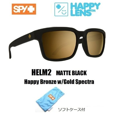 2018新作 ■ SPY OPTICS スパイ 【 HELM2 ヘルム2 】HAPPY LENS【Matte Black - Happy Bronze w/Gold Spectra 】送料無料!!...