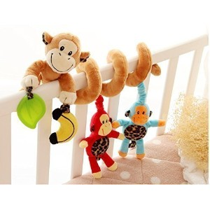 Bumud Infant Baby Activity Spiral Bed & Stroller Toy (Monkey) by Bumud [並行輸入品]