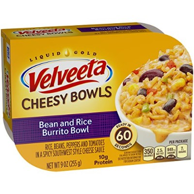 Velveeta Cheesy Bowls, Bean and Rice Burrito Bowl, 9 Ounce by Velveeta
