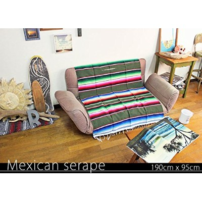 RUG&PIECE Mexican Serape made in mexcico ネイティブ メキシカン サラペ メキシコ製 190cm×95cm (rug-6121)