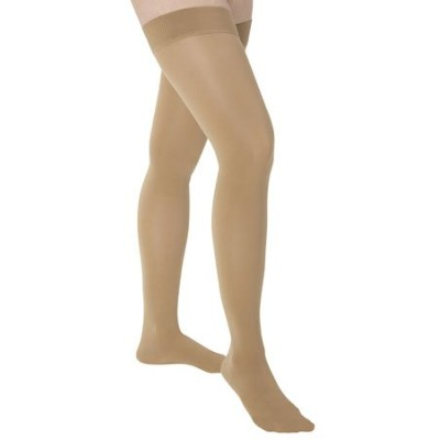 Medi Comfort Compression Thigh High w/ Beaded silicone band 15-20mmHg Closed Toe, III, Natural by...