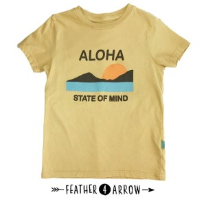 【P最大41倍&クーポン多数】キッズ Tシャツ フェザー4アロー FEATHER 4 ARROW [ Aloha State Of Mind Vintage Tee ] 子供服 [メール便] ...