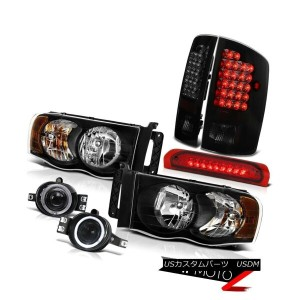 "テールライト 03-05 Ram 2500 Dual Halo Head Lights+Fog+3rd Brake+""Super Bright""LED Tail Lamps 03-05 Ram..."