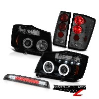 テールライト For 04-15 Titan Devil's CCFL DRL Headlight Tinted Tail Lights Smoke Third Brake 04?15タイタンデビルの...