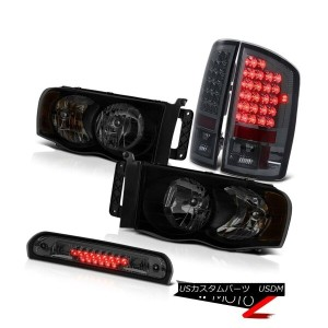 テールライト 2003-2005 Dodge Ram 2500 3.7L Headlamps Dark Smoke 3RD Brake Light Tail Lamps 2003-2005ダッジラム2...