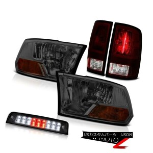 テールライト 09-18 Ram 1500 2500 3500 Big Horn 3RD Brake Lamp Smokey Red Rear Lamps Headlamps 09-18ラム1500...