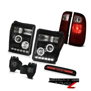 テールライト 11-16 F350 Xl Smokey Roof Brake Lamp Foglights Tail Lamps Raven Black Headlamps 11-16 F350...