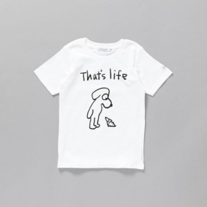 SALE【ギルドプライム(GUILD PRIME)】 【SANDER STUDIOxGUILD PRIME】KIDS DOG THAT'S LIFEキッズTシャツ ホワイト