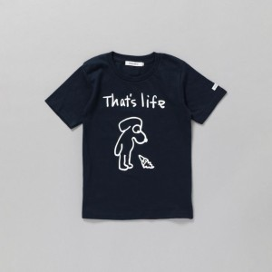 SALE【ギルドプライム(GUILD PRIME)】 【SANDER STUDIOxGUILD PRIME】KIDS DOG THAT'S LIFEキッズTシャツ ネイビー