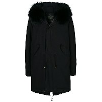 Mr & Mrs Italy hooded parka coat - ブラック