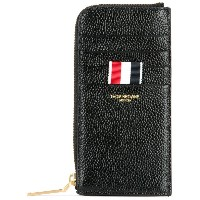 Thom Browne zipped leather wallet - ブラック