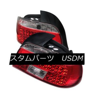 テールライト BMW 5-Series 97-00 Red Clear LED Rear Tail Lights Set Lamp 528i 530i 540i M5 BMW 5シリーズ97...