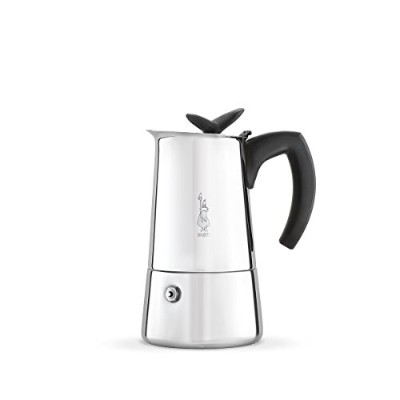 Bialetti 6955 Musa Stovetop Espresso Coffee Pot, 4-Cup, Stainless Steel by Bialetti