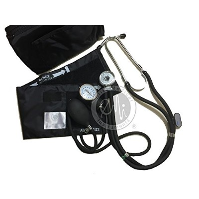 EMI BLACK Sprague Rappaport Stethoscope and Aneroid Sphygmomanometer Blood Pressure Set Kit - #330...