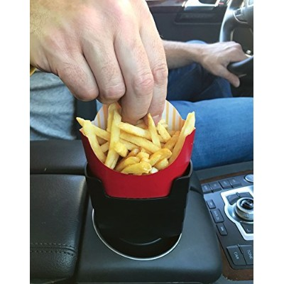 """MAAD""""Fries on the Fly"""" Multi-Purpose Universal Car French Fry Holder - Hilarious White Elephant,..."""