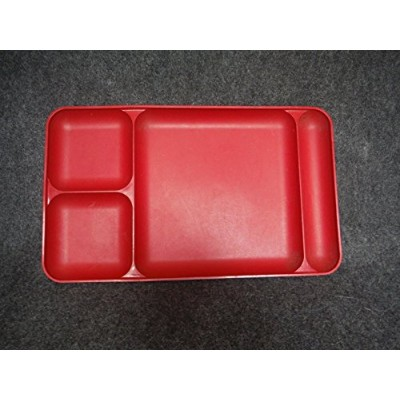 TupperwareレッドDivided Serving TV /ディナートレイ