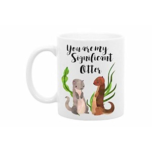 Theコーヒーコーナー–You Are My Significant Otter–11オンスホワイトセラミック–Perfect Valentines Day Giftsボーイフレンド–...