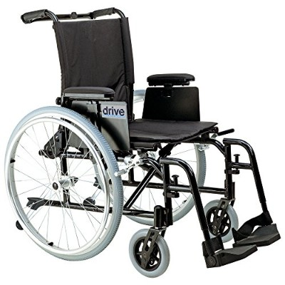 Drive Medical Cougar Ultra Lightweight Rehab Wheelchair with Various Arms Styles and Front Rigging...