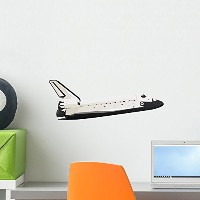 """Space Shuttle壁デカールby Wallmonkeys Peel and Stickグラフィックwm141865 18""""W x 10""""H - Small FOT-11634441-18"""