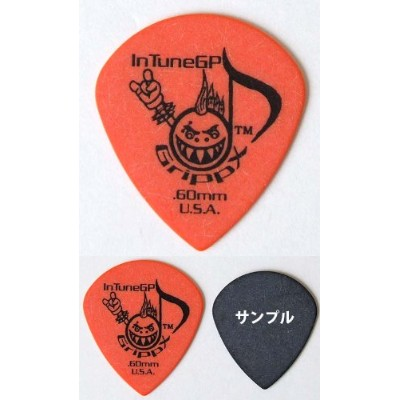 In Tune Guitar Picks DGP4-C60 GrippX-XJJ 0.60mm Orange ピック×12枚