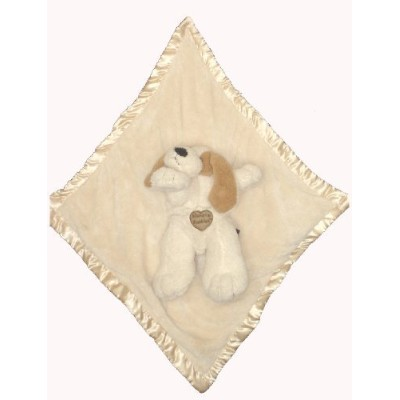 Baby Blankie Buddies 2-in-1 Security Blanket 18x18 Beige Blanket with Puppy Dog 12 Long by Ellis...