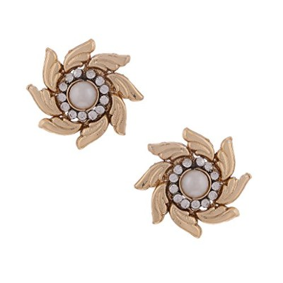 Ethnic Indian Bollywood Jewellery Set Stunning Floral Stud SetBAEA0333WH