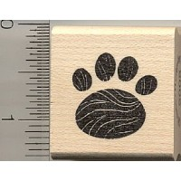 Rounded Paw Printラバースタンプ