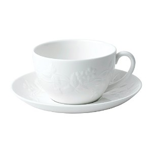 Wedgwood 40029579 Teacup and Saucer Set、1、Wild Strawberryホワイト