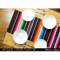 RUG&PIECE Mexican Serape Table Runner made in mexcico メキシカン サラペ テーブルランナー (rug-6150)