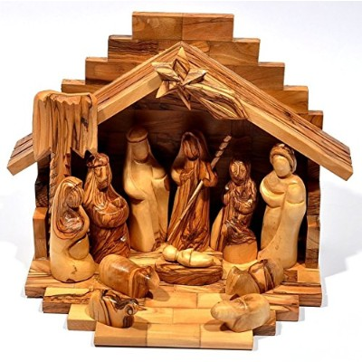 小さなCrib + Nativity Set made in Olivewoodからベツレヘム