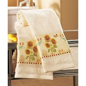 Set of 2 Sunflower Hand Towels by GetSet2Save [並行輸入品]