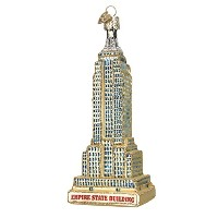 Old World Christmas Empire State BuildingガラスBlownオーナメント