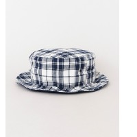UR PART TIME SARVICE MADRAS CHECK REVERSIBLE HAT【アーバンリサーチ/URBAN RESEARCH メンズ ハット NAVY ルミネ LUMINE】