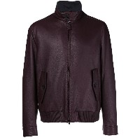 Brioni front zipped bomber jacket - レッド