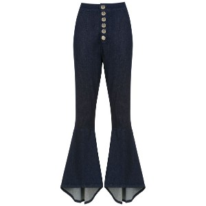 Olympiah Lima flared trousers - ブルー