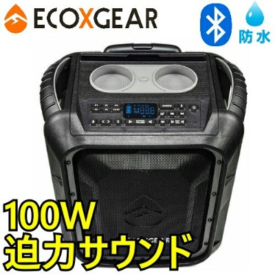 ECOXGEAR EcoBoulder GDI-EXBLD810Waterproof Portable Bluetooth防水 ワイヤレススピーカー AM/FMワイヤレス 30m スピーカー...