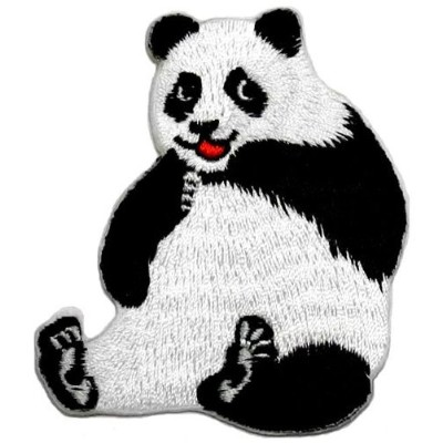 Cute Panda DIY Applique Embroidered Sew Iron on Patch by Panda