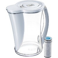 Brita 10Cupストリームフィルタas you pour water pitcher with 1フィルタ、Hydro、BPAフリー、チョークホワイト 12カップ ホワイト