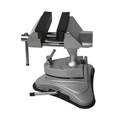 2-3/4 Non-Marring Vacuum Base Vise Jewelry Repair Watch Making Hobby Bench Tool 360 Degree Swivel Tilting and Rotating Vise by PMC Supplies LLC