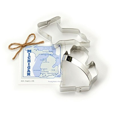 Michigan Cookie and Fondant Cutter - Ann Clark - 3.9 Inches - US Tin Plated Steel by Ann Clark...