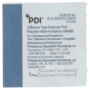 Adhesive Tape Remover Pad, 1-1/4 x 2-3/5 (Box of 100) by PDI