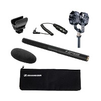 Sennheiser MKE 600 Shotgun Microphone with Audio - Technicaショックマウントat8415 and Sennheiser KA 600 –...